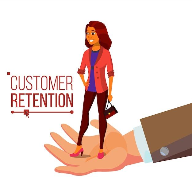女性クライアントと実業家の手 Premiumベクター