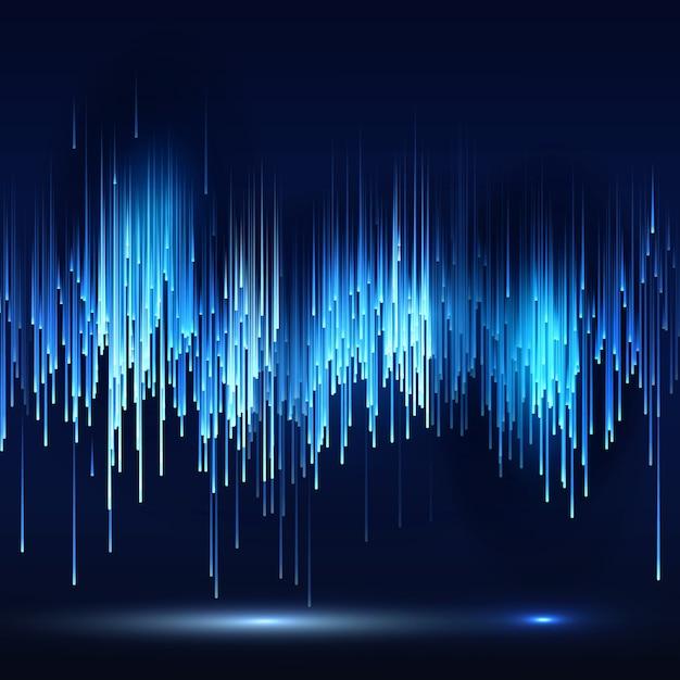 サイエンスフィクションの抽象的な未来技術の背景 Premiumベクター