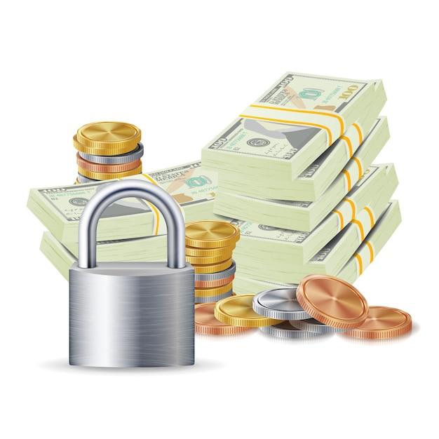 金融安全コンセプト Premiumベクター