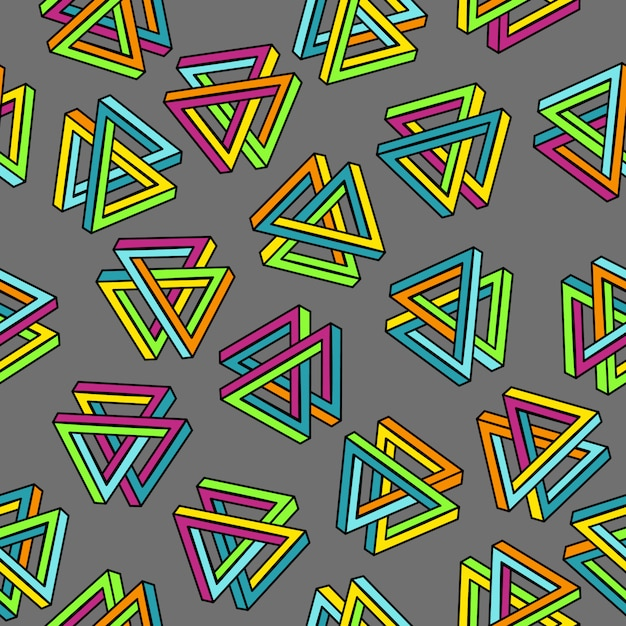 Геометрический бесшовный абстрактный фон Premium векторы