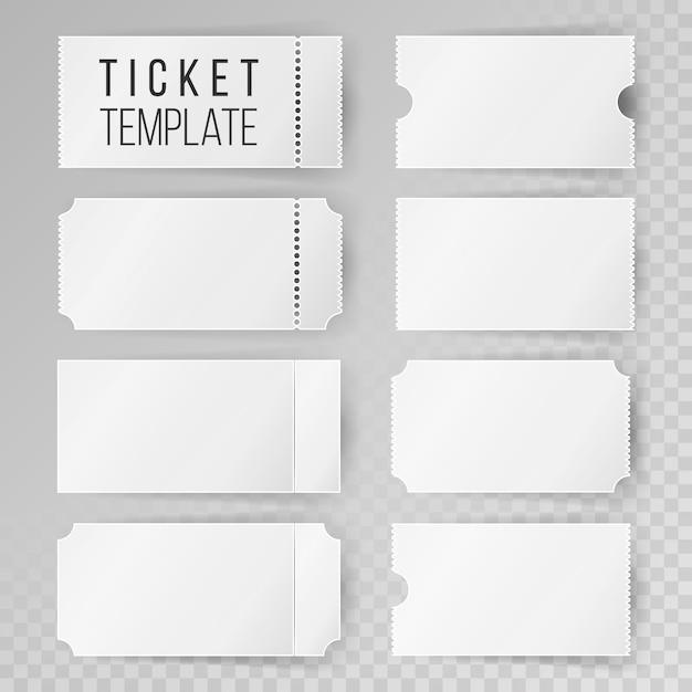Набор шаблонов билетов Premium векторы