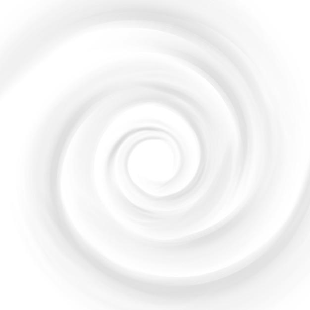 Белое молоко, йогурт, косметический продукт, крем от вихря Premium векторы