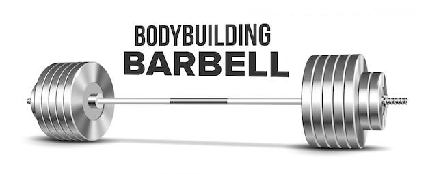 バーベル重量挙げジムスポーツ用品 Premiumベクター