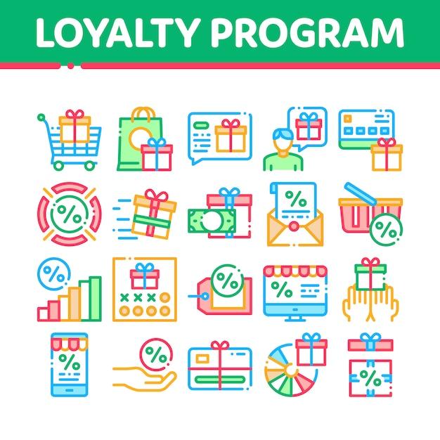 Программа лояльности для клиентов Premium векторы