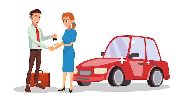 Продавец автомобилей Premium векторы