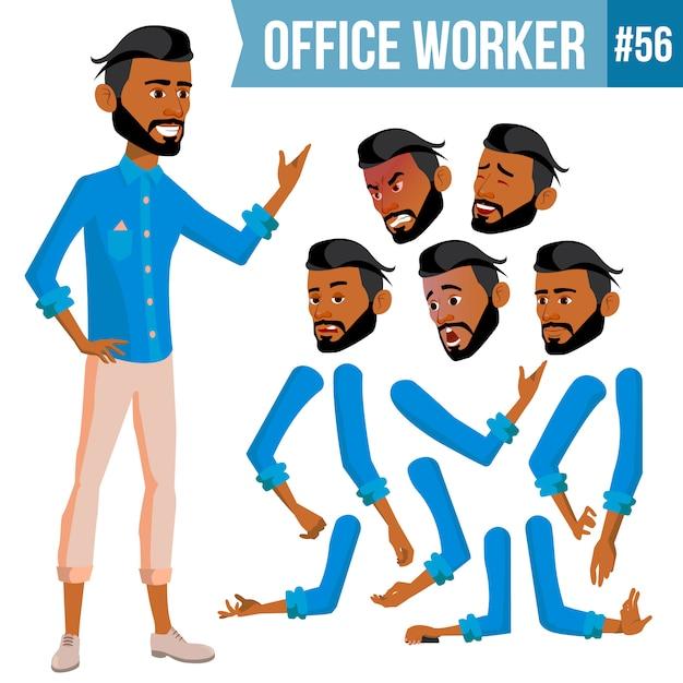 Арабский офисный работник Premium векторы