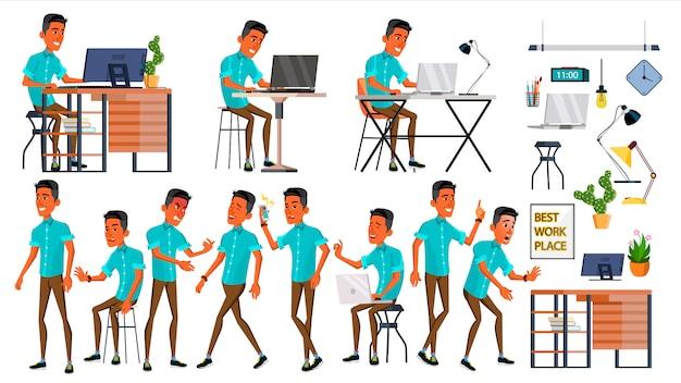 Офисный рабочий Premium векторы