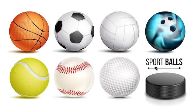 スポーツボールセット Premiumベクター