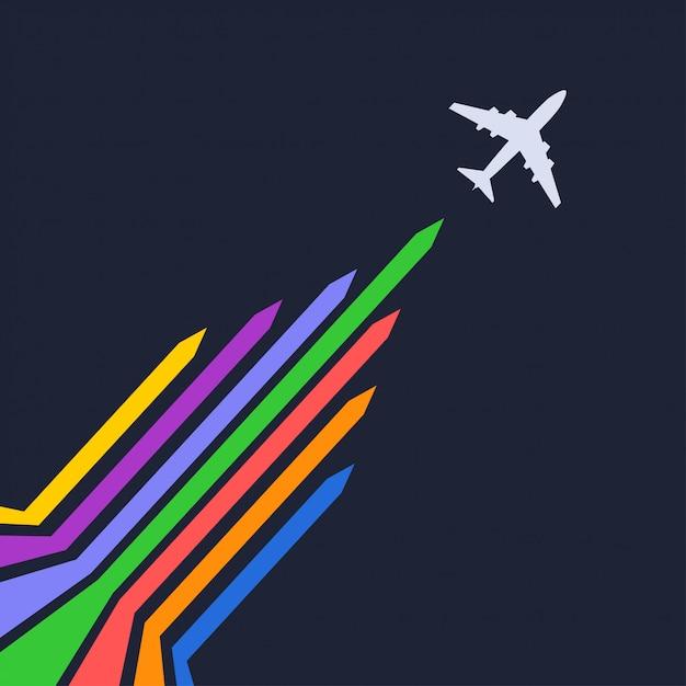 Силуэт самолета Premium векторы