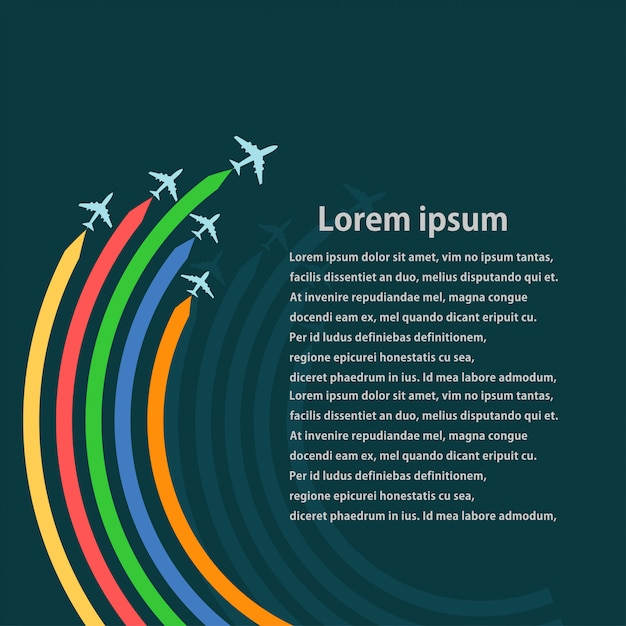 Набор самолетов Premium векторы