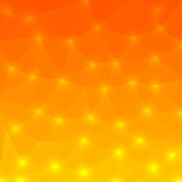 オレンジ色の背景ポリゴンスタイル Premiumベクター