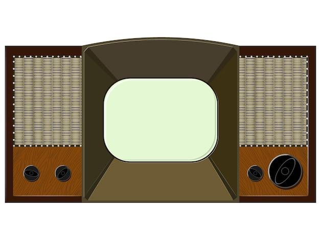 ベクトルアートワークは古いテレビになります Premiumベクター