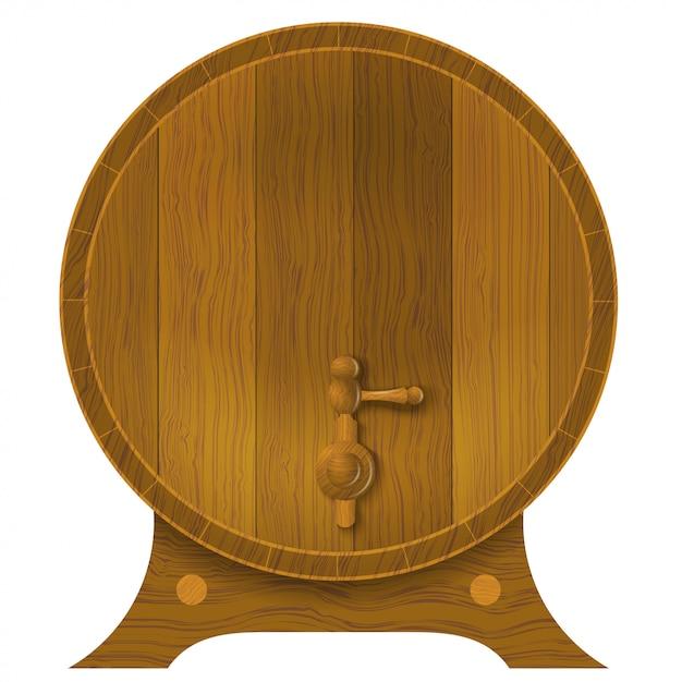 古代のオーク樽 Premiumベクター