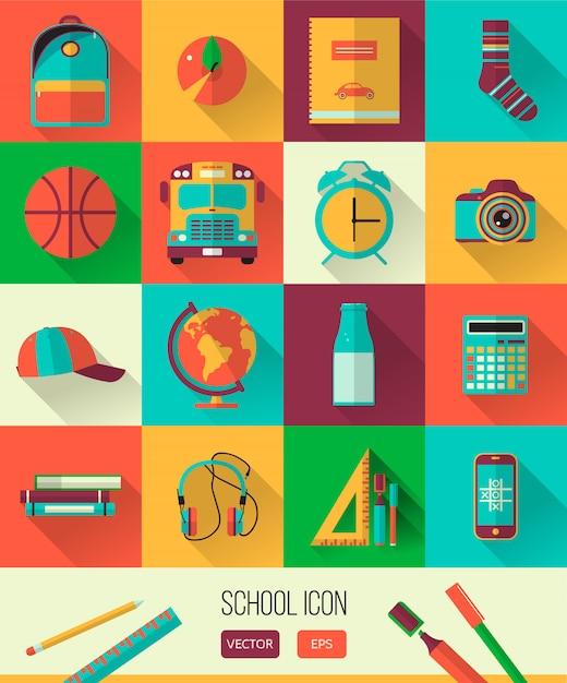 学校のワークスペース Premiumベクター