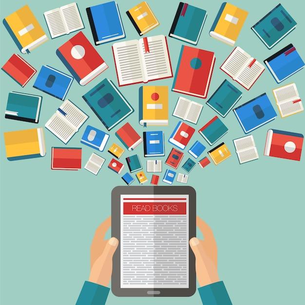 本や電子書籍を読む Premiumベクター
