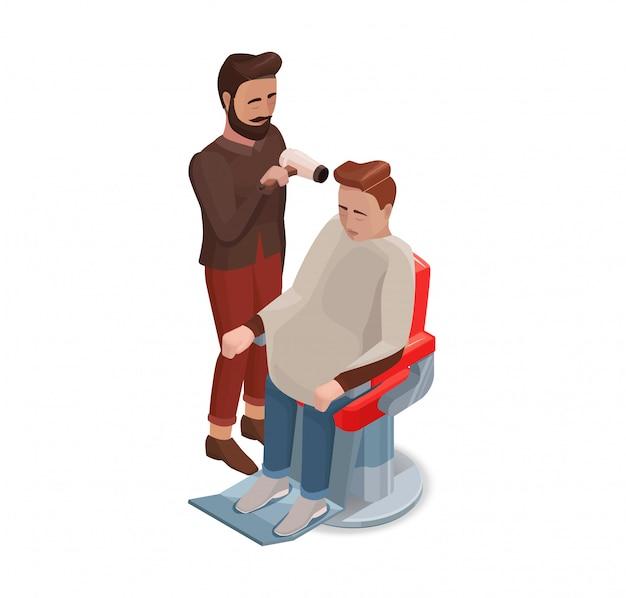 理髪師または美容院のスタイリングヘア Premiumベクター