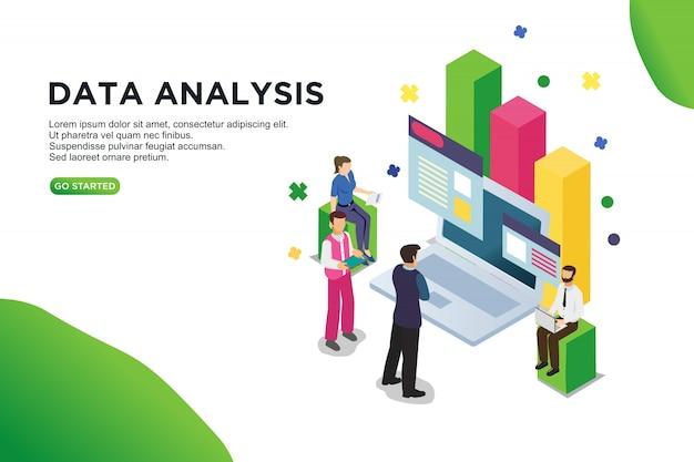 データ分析等尺性ベクトル図の概念。 Premiumベクター