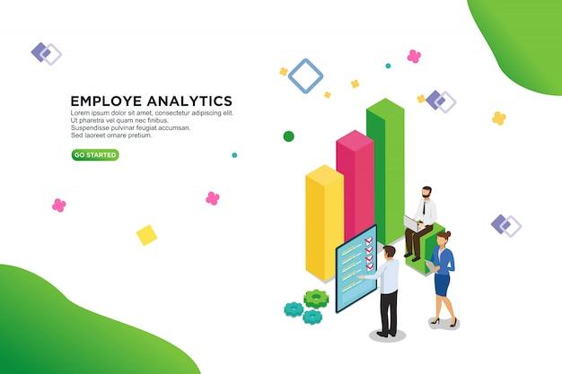 従業員分析ベクトル図の概念 Premiumベクター
