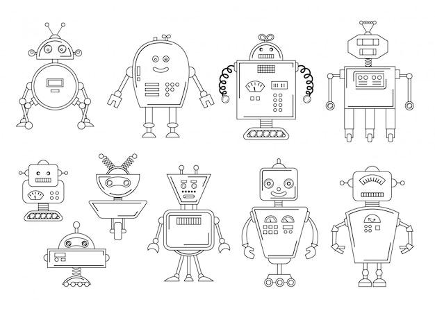 ロボットのベクトルイラスト Premiumベクター