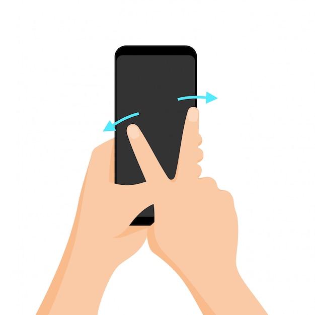 Вектор мультитач жест для планшетов и смартфонов Premium векторы