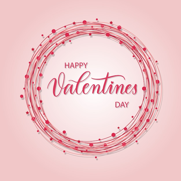 幸せなバレンタインデー Premiumベクター