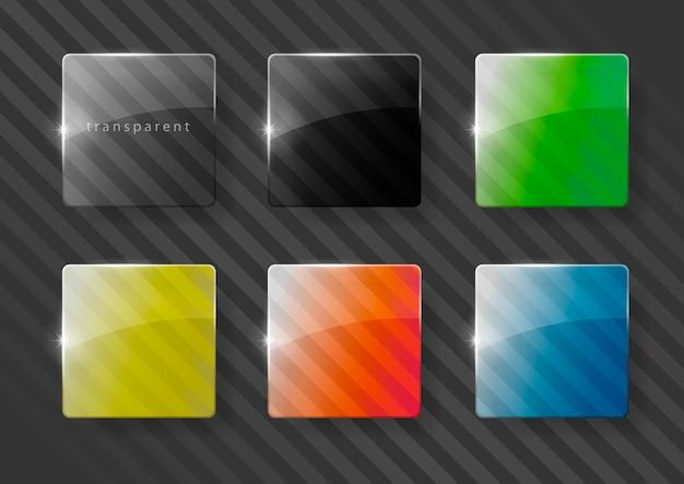 色とりどりのガラスレンズ Premiumベクター