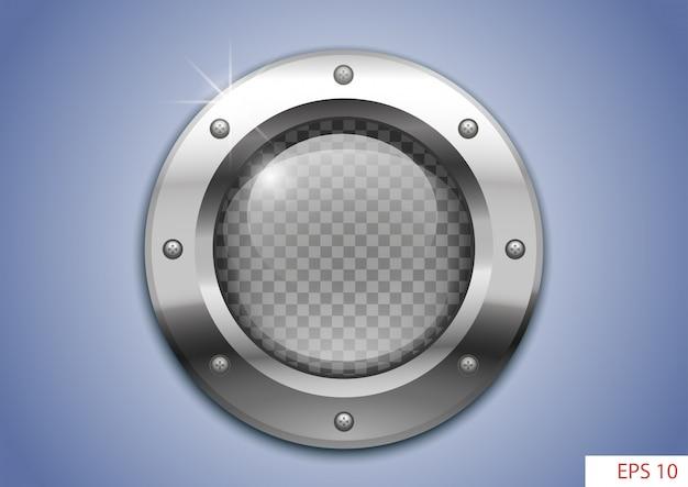 Иллюминатор с прозрачным стеклом Premium векторы