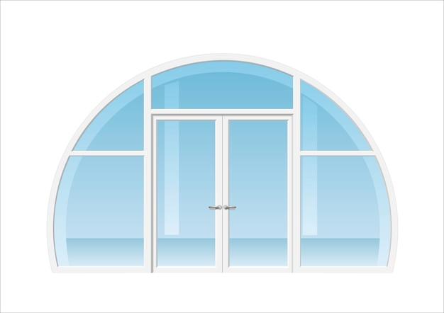 アーチ型の窓とドア Premiumベクター
