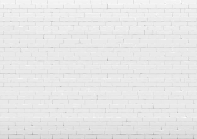 白いレンガの壁の背景 Premiumベクター