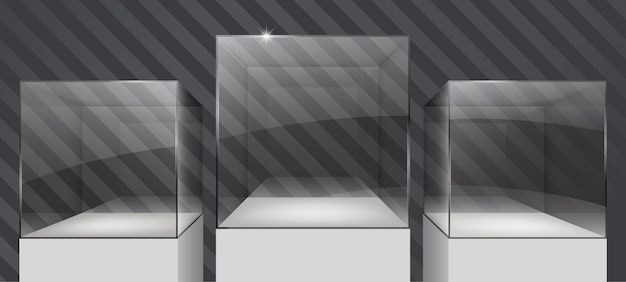 Витрины из стекла Premium векторы