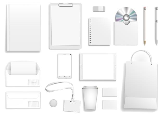 Вектор белый корпоративный макет Premium векторы