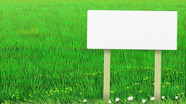 Вектор зеленая трава газон баннер Premium векторы