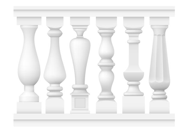 Набор классических балясин Premium векторы