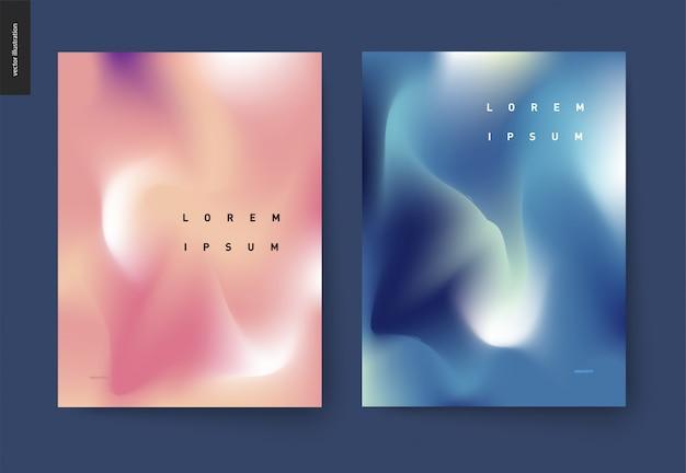 Набор абстрактных фоновых плакатов Premium векторы