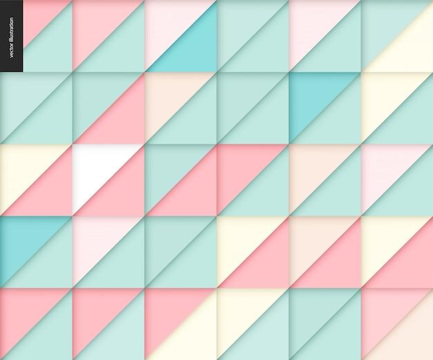シームレスな幾何学的なペーパーカットパターン Premiumベクター