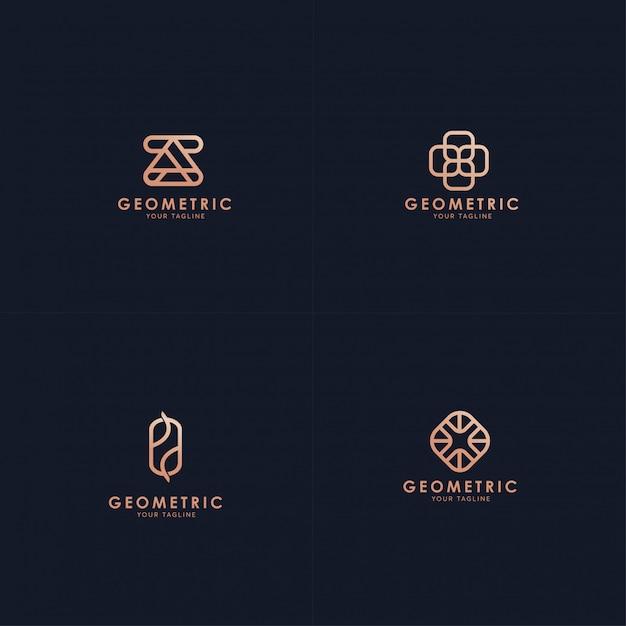 Коллекция геометрических логотипов. Premium векторы