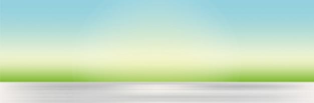 Естественный фон с размытыми травой и небом Бесплатные векторы