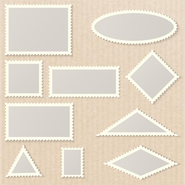 白紙の切手 Premiumベクター