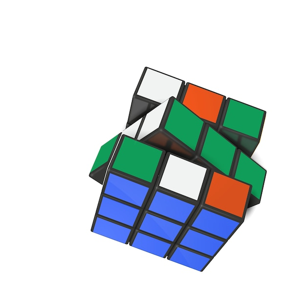 Реалистичный кубик рубика Premium векторы