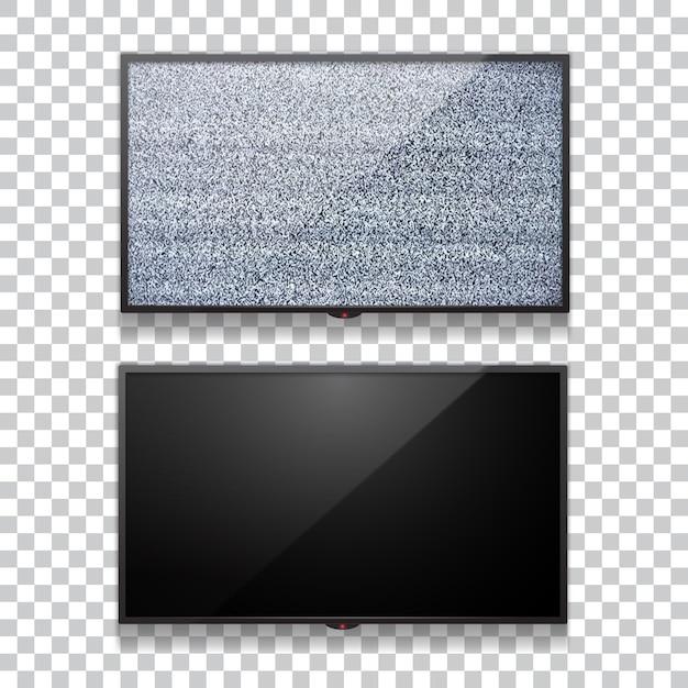 Реалистичный плоский жк-телевизор Premium векторы