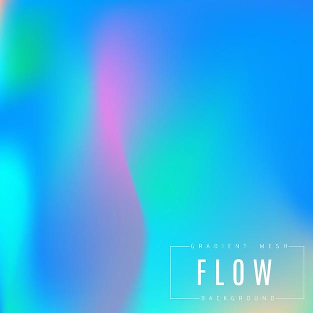 抽象的な色とりどりの明るいグラデーションメッシュのベクトルの背景。 Premiumベクター