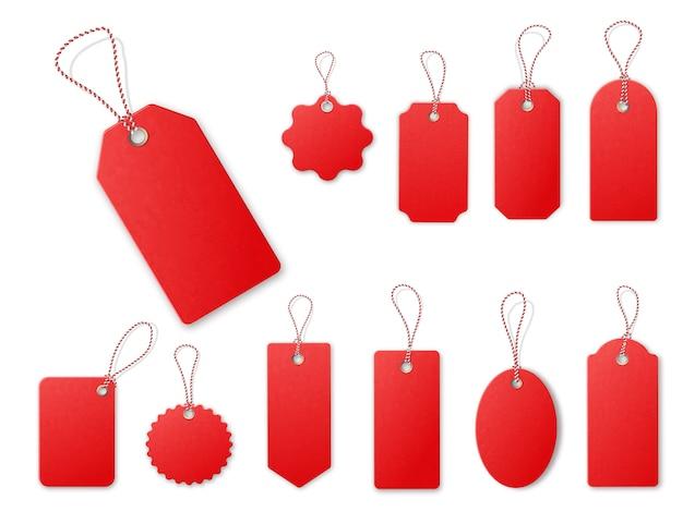 Красная распродажа теги. Premium векторы