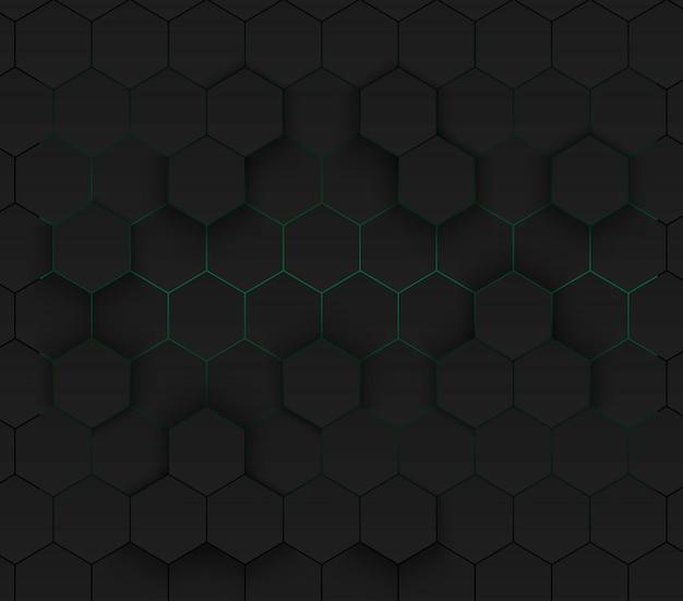 Зеленый современный футуристический неоновый фон Premium векторы
