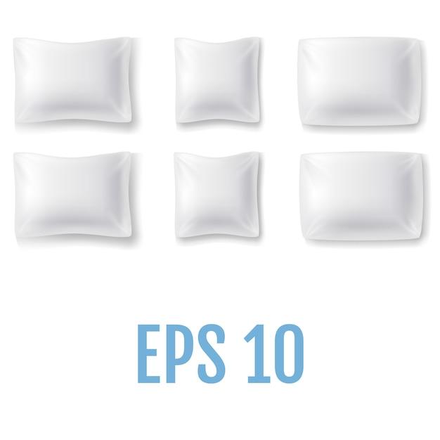 Набор реалистичных подушек. Premium векторы