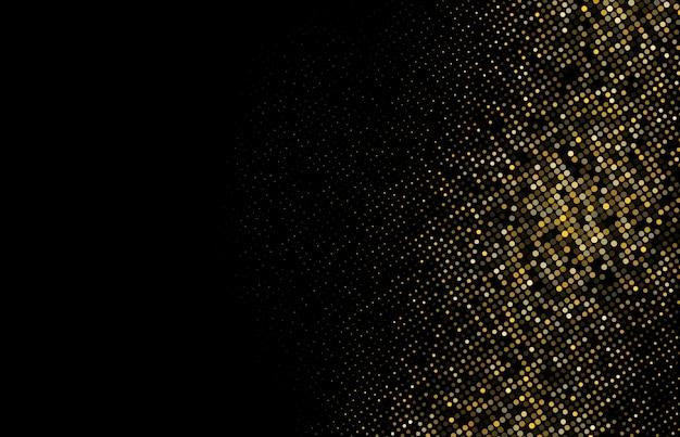 ゴールドラメハーフトーンドット背景 Premiumベクター