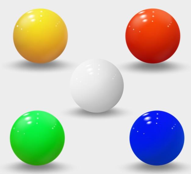 Реалистичные сферы изолированы Premium векторы