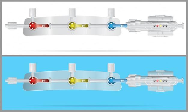 静脈内注入のためのシステムの装置部分の変換 Premiumベクター