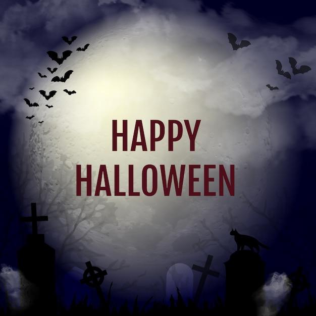 Хэллоуин дизайн фона Premium векторы