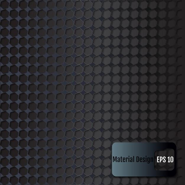 Фон с шестигранной. материал дизайн. векторная иллюстрация Premium векторы