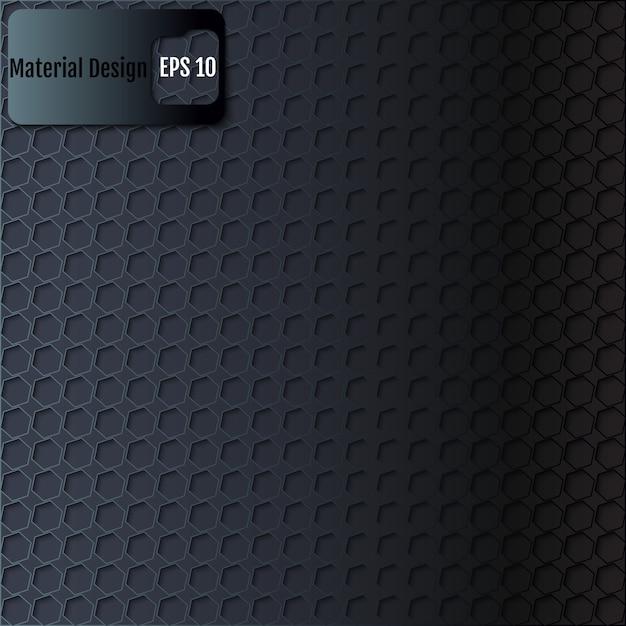 六角形のテクスチャの黒の背景。ベクター Premiumベクター